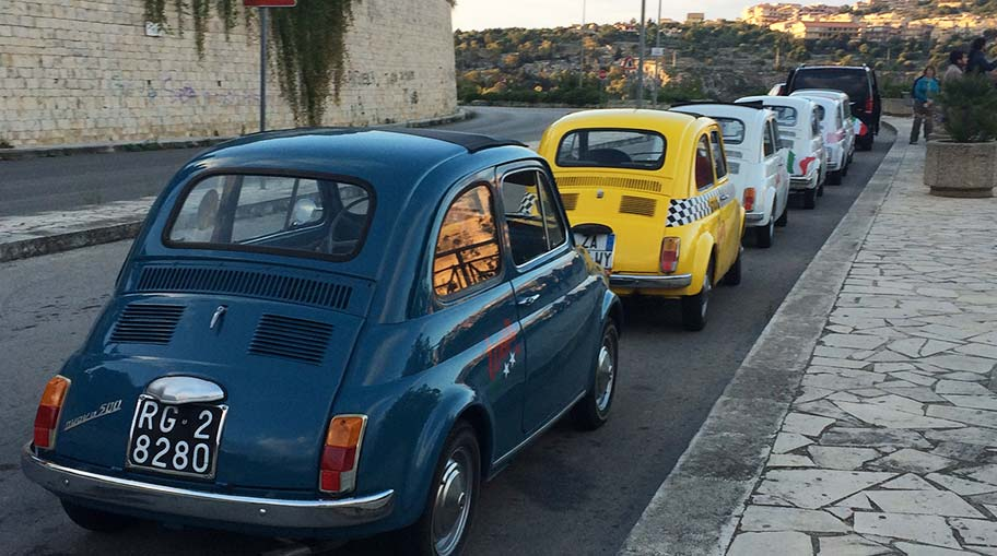 A Fiat 500 convention Modica, Sicily