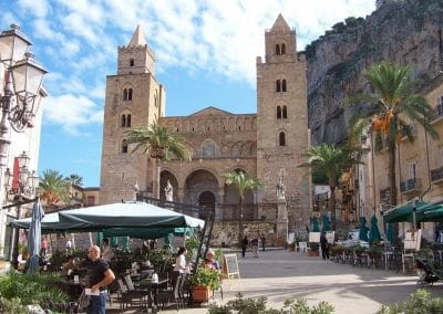 Cefalu - stunning Norman Cathedral with exceptional 11th century mosaics inside.