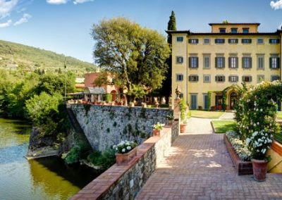 The superb Villa La Massa, beautifully located on the banks of the River Arno. A truly great hotel.