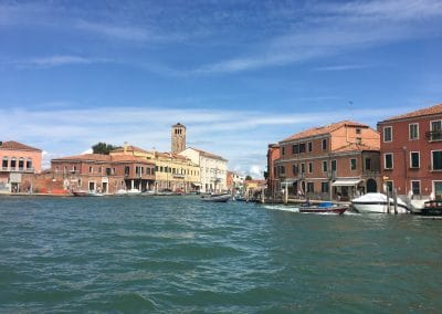 Murano from the lagoon - September, 2017 - one of our unique journeys in Italy
