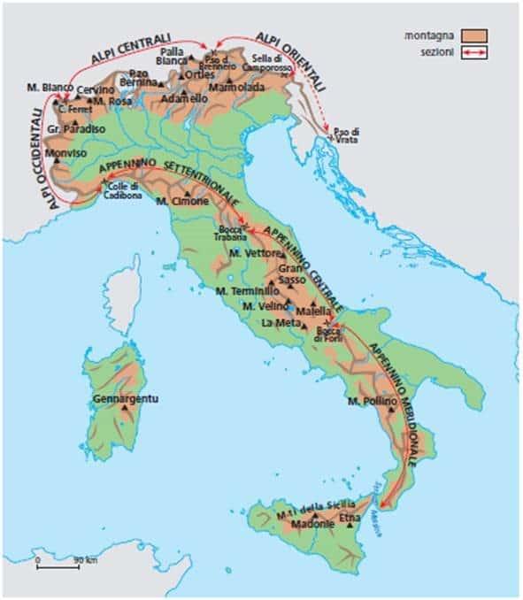 The Italian Appennini Mountains