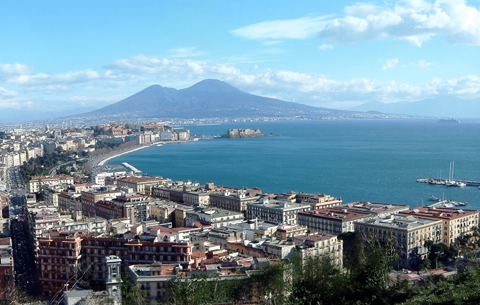 Magnificent Vesuvius, dominates the Bay of Naples