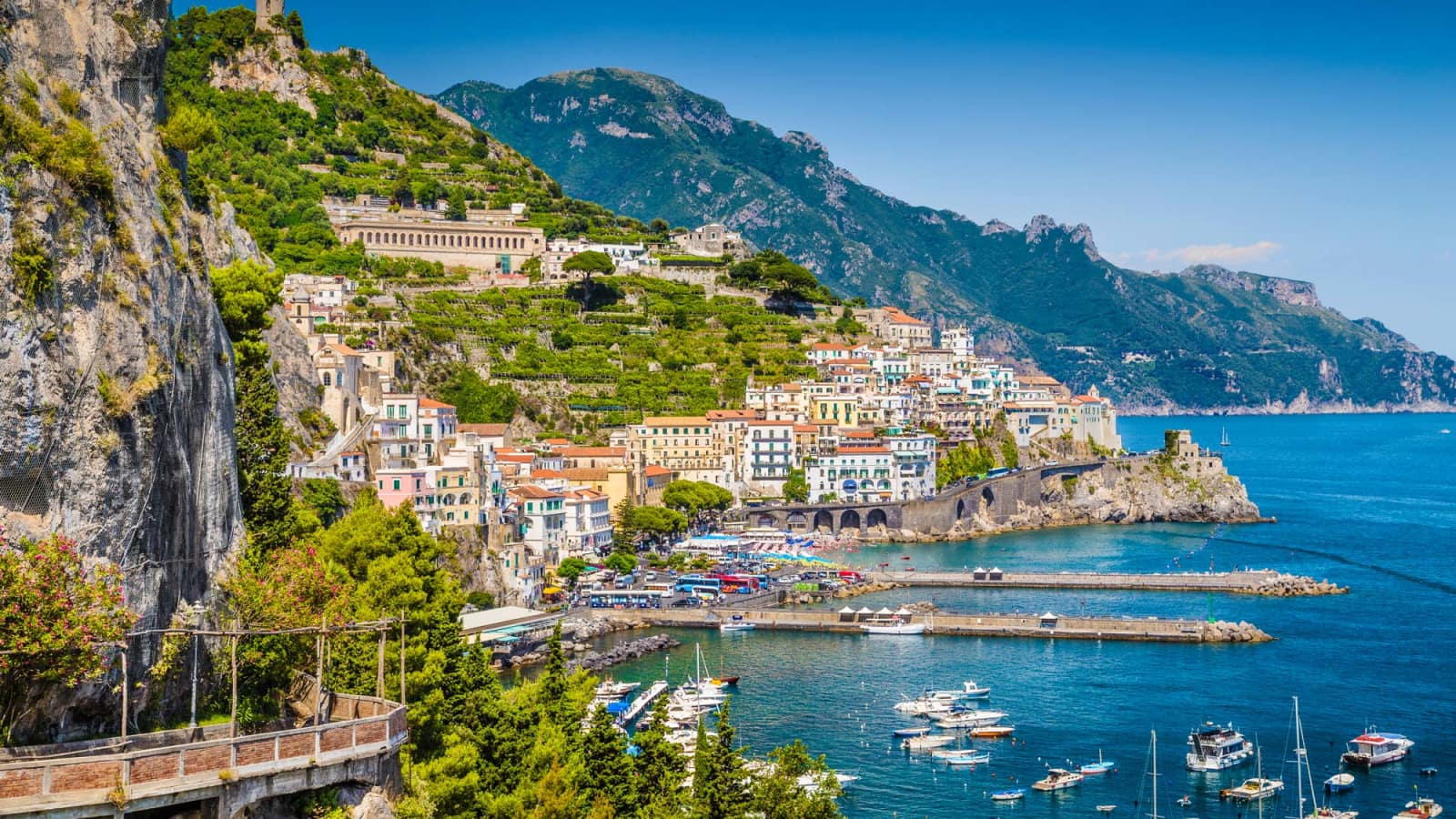 The magical Amalfi Coast , Italy