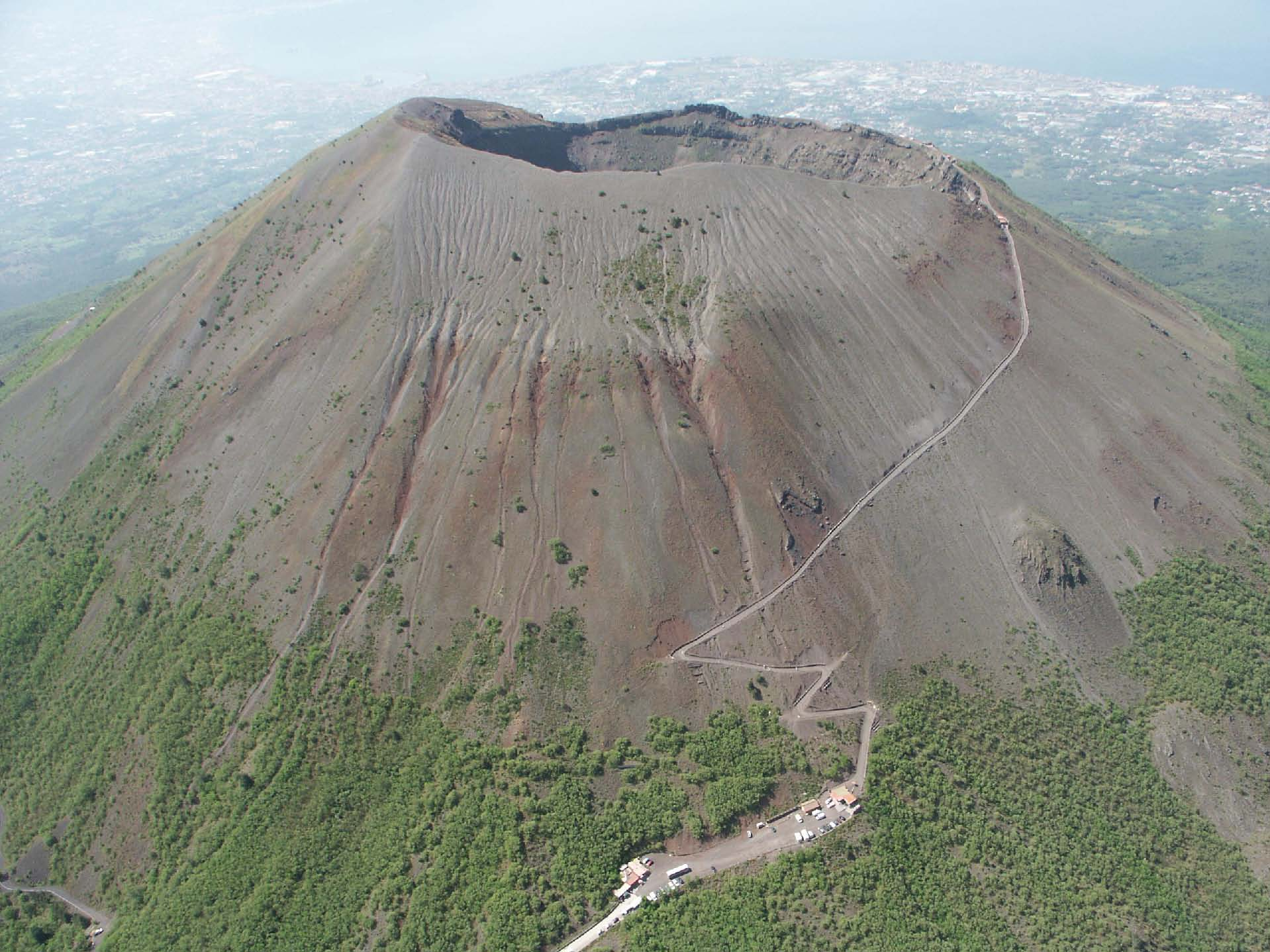 Vesuvius - the summit of this majestic volcano is awe-inspiring