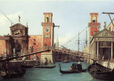The Arsenale - Shipyard, Venice by Canaletto