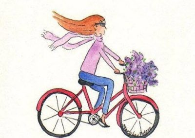 Grand Tourist loves cycling - thanks to Mary Lou Peters (artist) for this charming image