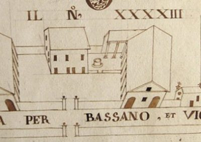 Historic map of Villa Angarano