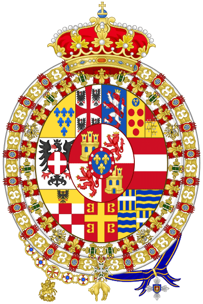 The coat of arms of the Royal Dukedom, Parma, Italy