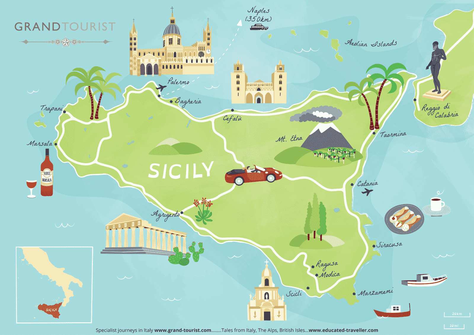 Sicily – a fusion of colour, sunshine, history, food and wine